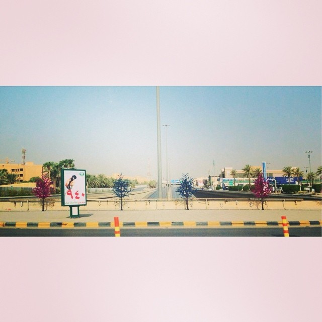 And so the colored trees are back on the streets. Only a few more days to go before the Eid! (Spelled as VACATION for some.) Good morning, Riyadhizens!!! #goodvibesriyadh‬ ‪#goodmorningksa‬