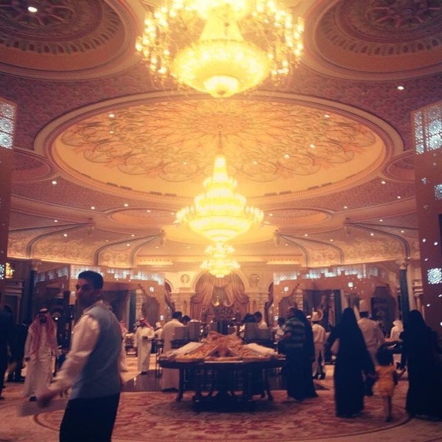 And the Ramadan season continues to dazzle! We're at the Ramadan Tent of the Ritz Carlton tonight for their Iftar buffet where it's all feeling a little more majestic than usual. Good evening RIYADHizens! xo, E #riyadh #ritzcarlton #iftar #ramadan2014