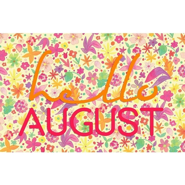 And here we go AUGUST!!! Raise your hand if you're an August baby like me! ~ Janelle ‪#goodvibesriyadh‬ ‪#gooddayksa‬ ‪#helloaugust2014‬ ‪#8thmonth‬