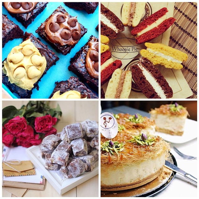 We love baked goods, so we came up with a list of Riyadh bakers here on Instagram. On the photo: @jojosrockyroad @browniesyum @latifah_whoopie @sjappetite You can check the full list on our website: http://thepinktarha.com/ksa/2014/08/riyadh-bakers-in-instagram.html