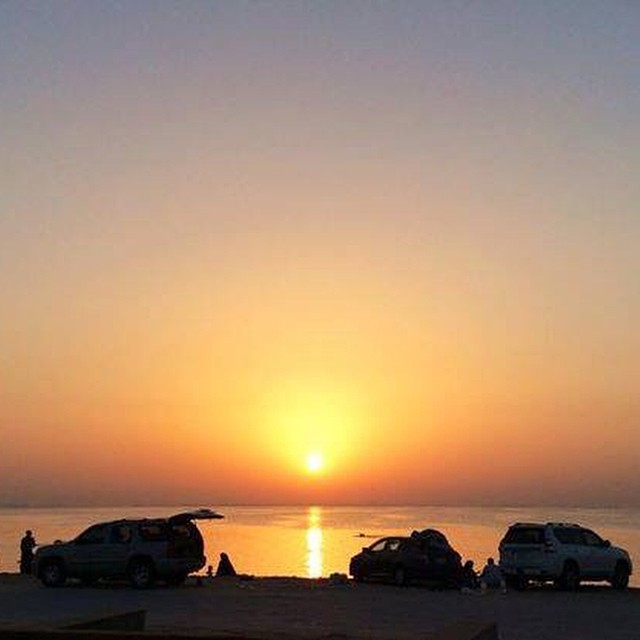 Good Aftie, Riyadhizens! I just got back from a family trip to Al Khobar. We camped outdoors and woke up to this beautiful view of the seaside and sunrise. How about you? How did you spend your Eid Holidays? ~Sheila ‪#eidaladha2014‬ ‪#alkhobar‬ ‪#trips‬ #goodvibesksa‬ #nofilter