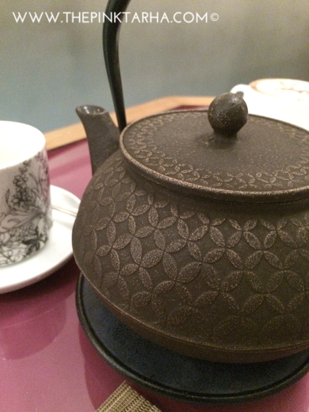 Green Tea in an authentic Japanese tea pot.