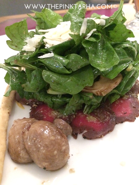 Beef Carpaccio with Arugula
