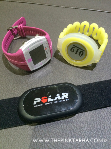 I had to put on these fitness gadgets.