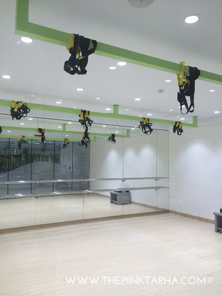 They have a TRX room!